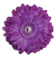 LL-LF-PU-26 Jeweled Flower Magnet: Purple