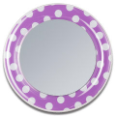 LL-LM 154 Magnetic Fashion Mirror: Purple-White Dots