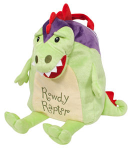 OP QF1204 Rowdy Raptor (dinosaur) Snuggle Backpack