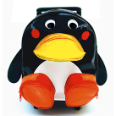 SA3520PN Penguin Animal Pull-Along Backpack