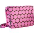 WK38085 Big Dots Hot Pink Laptop Messenger Bag