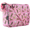 WK41020 Horses in Pink Kickstart Messenger Bag