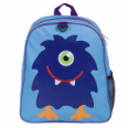 WK20600 Olive Kids Monsters Embroidered  Backback
