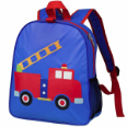 WK20631 Olive Kids Firetruck Embroidered Backpack