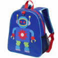 WK20701 Olive Kids Robot Embroidered Backpack