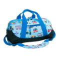 WK25079 Olive Kids Trains, Planes and Trucks Duffel Bag