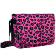 WK38214 Pink Leopard Laptop Messenger Bag