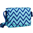 WK38551 Chevron Seabreeze Laptop Messenger Bag