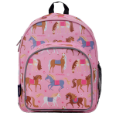 WK40708 Olive Kids Horses Pack n Snack Backpack