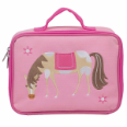 WK42696 Olive Kids Horses Embroidered Lunch Box