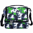 WK52088 Green Camo Double Decker Lunch Bag