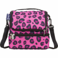 WK52214 Pink Leopard Double Decker Lunch Bag