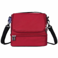 WK52500 Cardinal Red Double Decker Lunch Bag