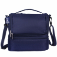 WK52526  Rip-Stop Blue Double Decker Lunch Bag