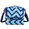 WK52551 Chevron Seabreeze Double Decker Lunch Bag