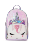 OM - MB53 Queen Miss Gwen Sequin Mini Backpack-white