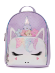 OM - MB59 Perforated Flower Crown Mini Backpack-lavender