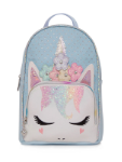 OM - MB62 Perforated Flower Crown Mini Backpack-light blue