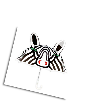 Ki-00324 Zebra Umbrella