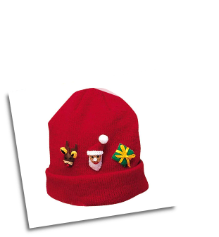 Ki-00624 Christmas Knit Hat
