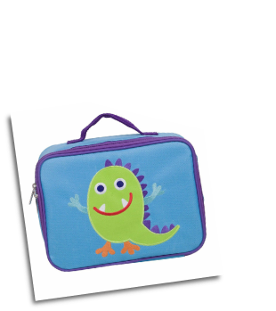 WK42600 Olive Kids Monsters Embroidered Lunch Box