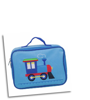 WK42630  Trains, Planes, Trucks Embroidered Lunch Box
