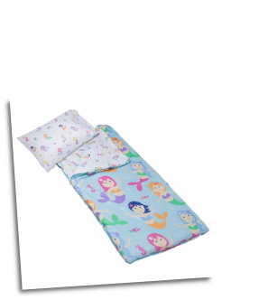 WK56694 Olive Kids Mermaids Microfiber Sleeping Bag