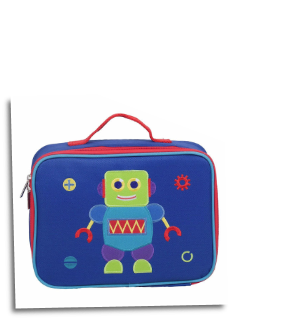 WK42701 Olive Kids Robots Embroidered Lunch Box