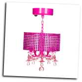 LL-LLS1053 Pink Battery Operated Hanging Lamp w Motion Detetor