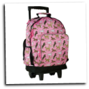 WK44020 Horses in Pink High Roller Rolling Backpack