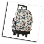 WK44025 Horse Dreams High Roller Rolling Backpack
