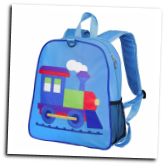 WK20630 Olive Kids Train Embroidered Backpack