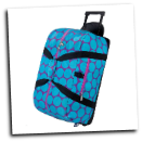 WK51119 Big Dots Aqua Rolliing Duffle Bag