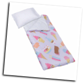 WK56697 Olive Kids Ice Cream Microfiber Sleeping Bag