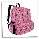 WK79020 Horses in Pink Megapak Backpack