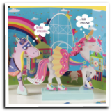 FR - 40P3550  Fantasy Unicorn and Dragon Magnetic Dress Up
