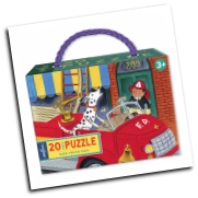 EB-PXFID Fire Truck Dog Puzzle